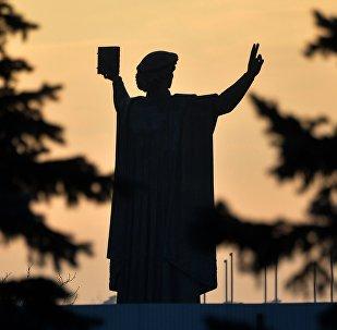 Помнік Скарыне ля Нацыянальнай бібліятэкі