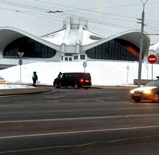 Нацыянальны выставачны цэнтр Белэкспа ачэплены перад пачаткам прэс-канферэнцыі