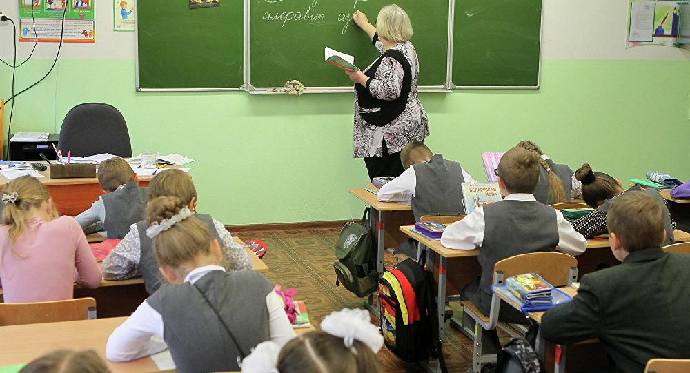 Урок беларускай мовы ў школе