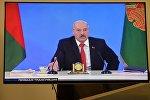 Президент А. Лукашенко во время общения со СМИ