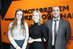 Организаторы барной викторины Алеся Гурская-Таболич, Ирина Чеснок и Вадим Жидович