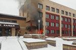 При пожаре в Жлобинском металлургическом колледже погиб мужчина