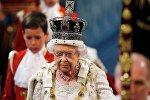 Королева Великобритании Елизавета II на торжественном открытии работы парламента