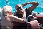 Барак Обама и Ричард Брэнсон отдыхают на яхте