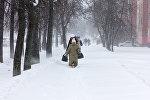 Снегопад в Бресте