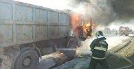 Пожар машины на МКАД