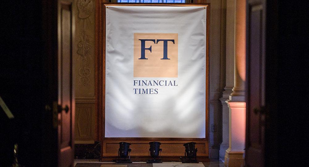 Банер газеты Financial Times