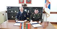 Капитан Милан Конжиковач и генерал-майор Олег Войнов