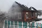 Сгоревший дом в Ляховичах