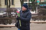 Белорусские тюльпаны появились в Минске в большом количестве как раз к 14 февраля