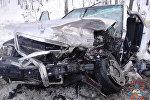 Разбитый в ДТП автомобиль
