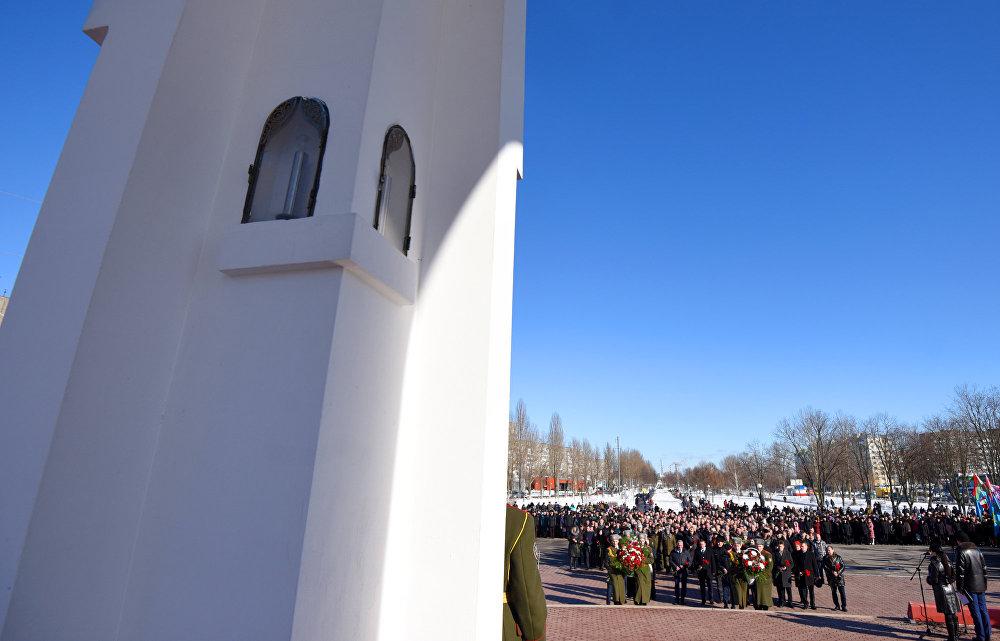 Митинг посетили представители власти, трудовых коллективов, общественных организаций, православной церкви.
