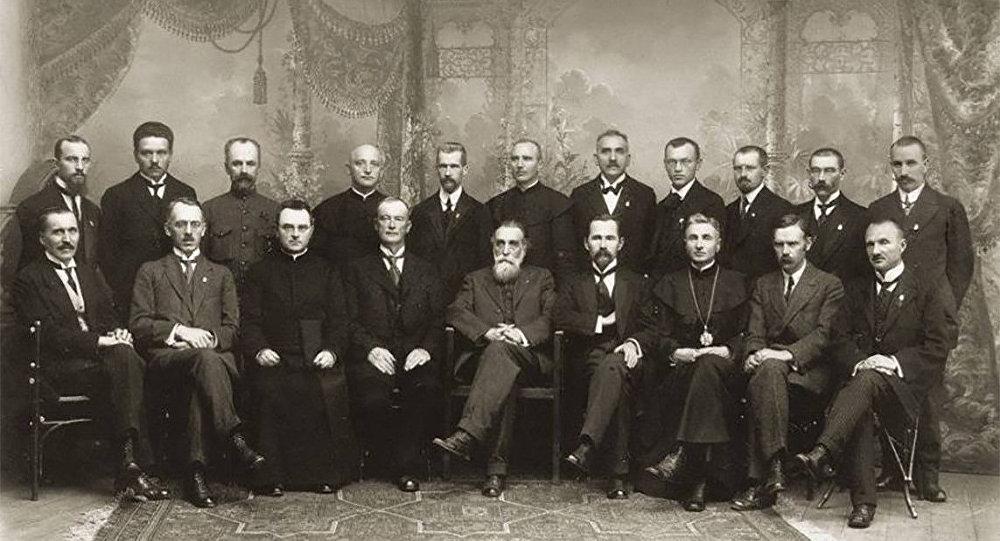 Совет Литвы под председательством Йонаса Басанавичюса
