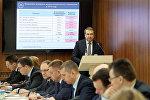 Министр финансов РБ Владимир Амарин на заседании итоговой коллегии ведомства