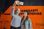 Участницы вокального конкурса Ты супер! на телеканале НТВ – Дарья Чернова и Анастасия Кравченя