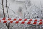 Прорыв трубы горячего водоснабжения, архивное фото
