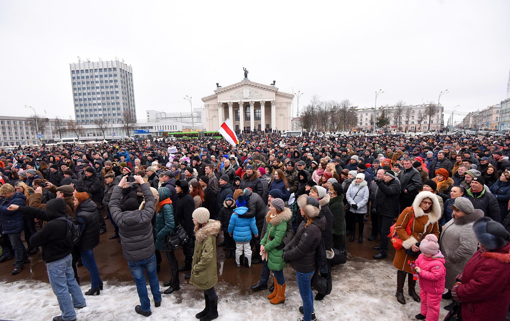 В различных городах Беларуси сегодня прошли митинги против «тунеядского декрета»