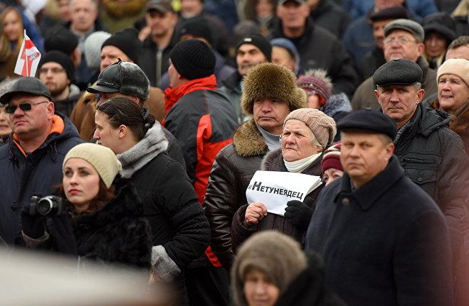 В республики Белоруссии  выступили против так называемого «тунеядского декрета»