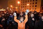 Марш против декрета о тунеядцев в Минске