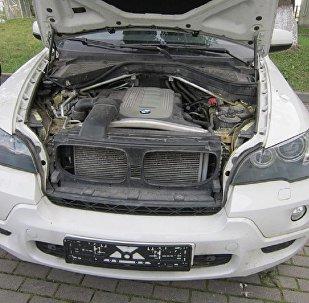Изъятый правоохранителями автомобиль BMW