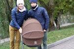 Дарья Домрачева с Уле-Эйнером Бьорндаленом и ребенком