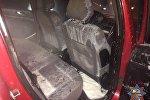 Салон горевшего Peugeot 307