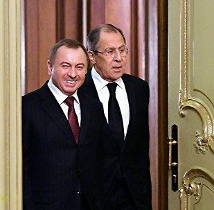 Встреча глав МИД Беларуси и России, Владимира Макея и Сергея Лаврова, в Москве