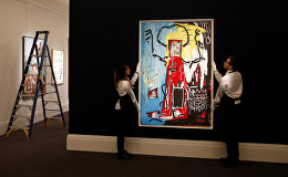 Работа американского художника Жан-Мишеля Баскии Без названия (Одноглазый)