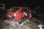 Место аварии в Минском районе