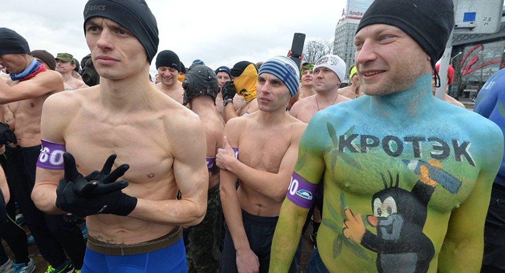 Забег Настоящих мужчин состоялся вМинске 23февраля