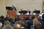 Министр энергетики Беларуси Владимир Потупчик на пресс-конференции в Минске