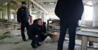 Работа представителей СК на месте взрыва на Скидельском сахарном комбинате
