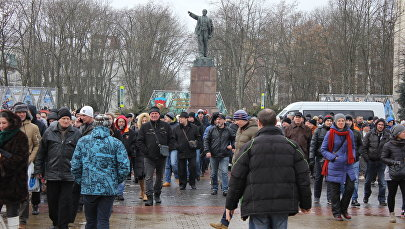 Марш против декрета №3 в Бресте 26 февраля