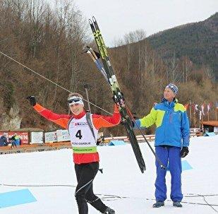 Белорусский биатлонист Антон Смольский