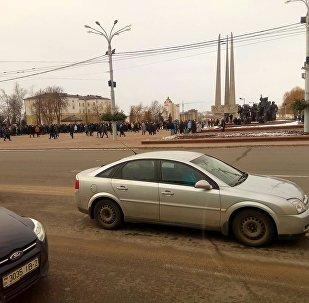 Митинг против декрета №3 в Витебске