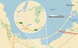 Канал через Балтийскую косу - инфографика на sputnik.by