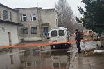 Милиция у ограбленного отделения банка
