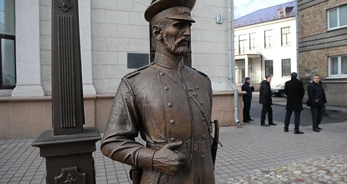 Открытие скульптуры Минский городовой