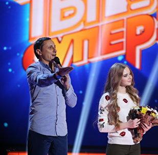 Удзельніца шоу Ты супер беларуска Анастасія Краўчэня і Вадзім Галыгін
