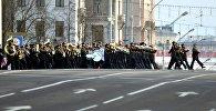Парад у Мінску, прысвечаны 100-годдзю міліцыі