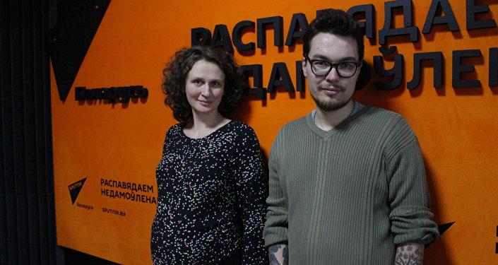 Hуководитель галереи Дом картин Ольга Клип и научный сотрудник Национального художественного музея, востоковед Никита Монич