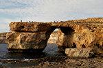 Скала Лазурное окно на Мальте, архивное фото