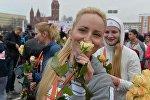 Красивый забег в Минске на 8 Марта