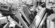 Так выглядаў цэх футляраў Мінскага радыёзавода пасля выбуху