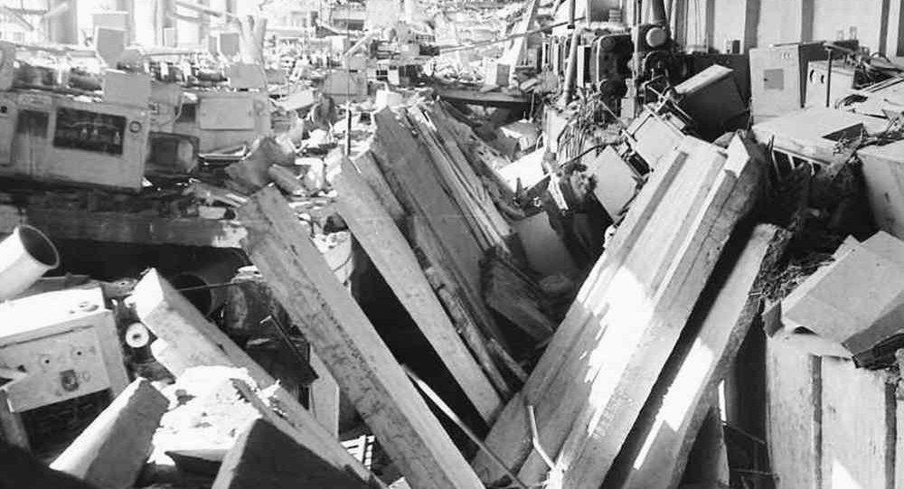 Так выглядел цех футляров Минского радиозавода после взрыва