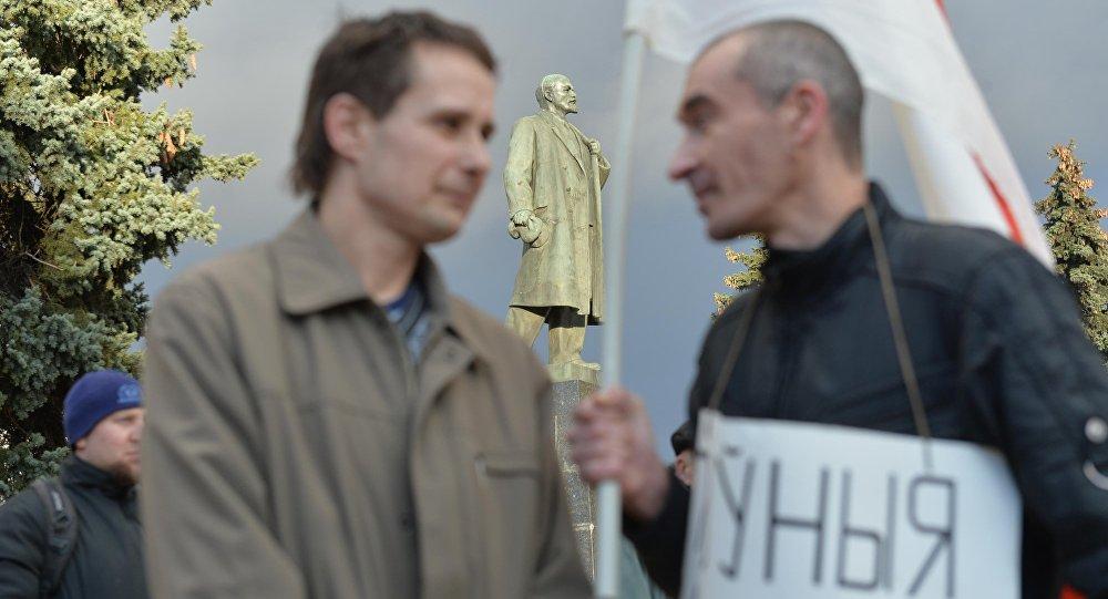 Участники марша нетунеядцев в Молодечно