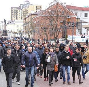 Участники марша в Бресте