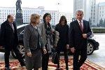 Председателя ПА ОБСЕ Кристин Муттонен встречали в Минске Владимир Андрейченко и Марианна Щеткина