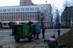 Ликвидация последствий прорыва трубопровода в Новополоцке