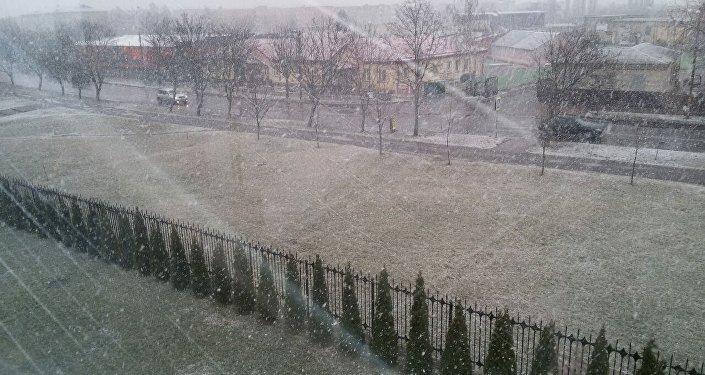 Снег в марте в Пинске